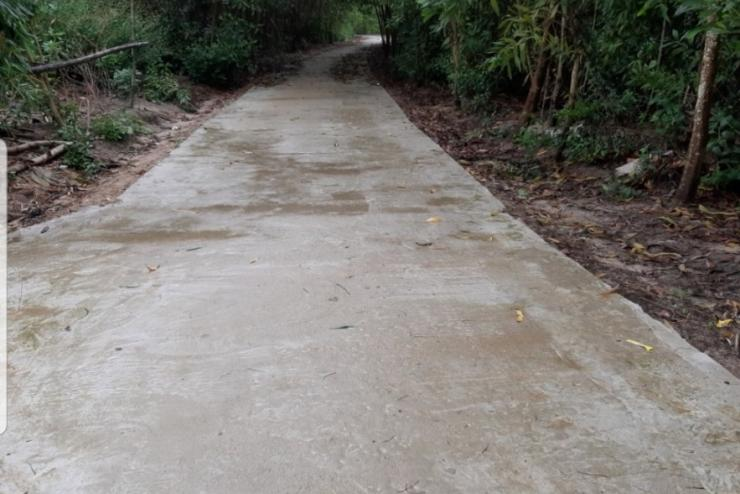 Building 3kms road in Binh Quy Commune, Quang Nam Province, Vietnam, in 2019