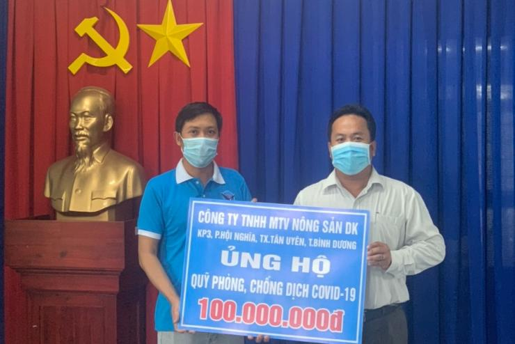 DK COMMODITY CO.,LTD donated 100,000,000 VND to the fund for Prevention Covid-19